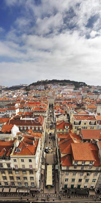 Portugal, Lisboa, Baixa, vista de olho de pássaro da cidade — Fotografia de Stock