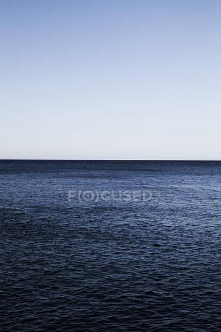 View to horizon line in ocean at daylight, Mediterranean Sea, Croatia — Stock Photo