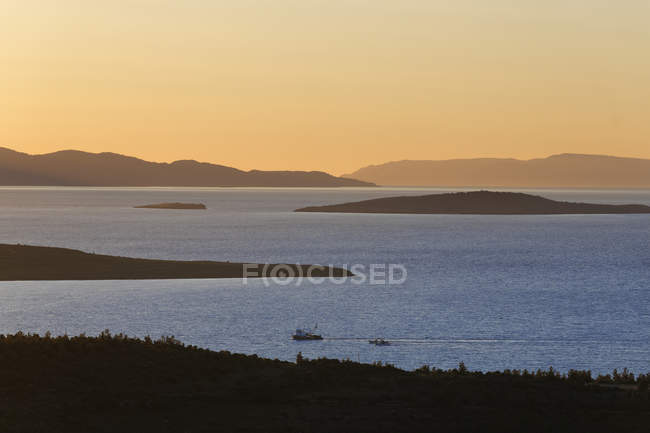 Turkey, Aegean sea and islands seascape at sunset — Stock Photo