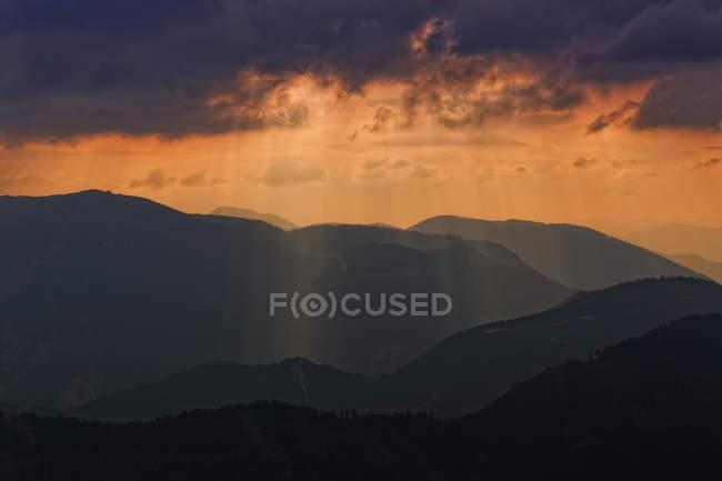 Vista da gama Hochschwab na Estíria, Áustria — Fotografia de Stock