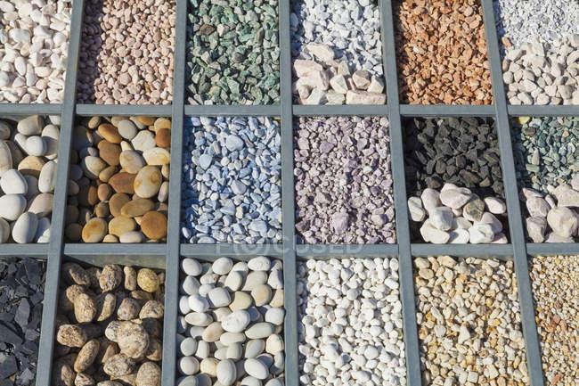 Alemanha, pedras naturais, pedras diferentes e grão — Fotografia de Stock