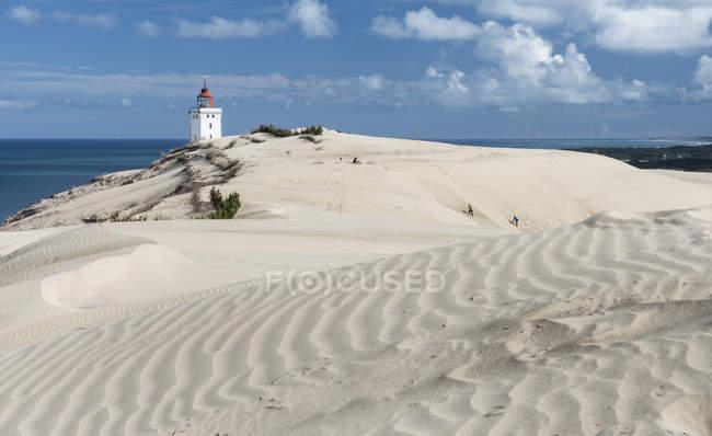 Данія, перегляд маяк біля моря денний час — стокове фото