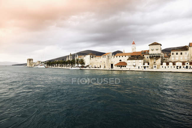 Croatia, Trogir, View of old town against water — Stock Photo