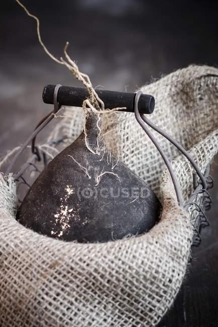 Закри чорної редьки висувні корзини з килим — стокове фото