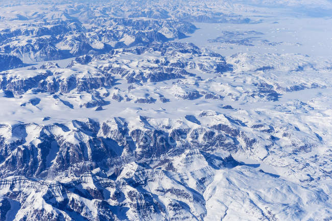 Greenland, Aerial view of Greenland ice sheet — Stock Photo
