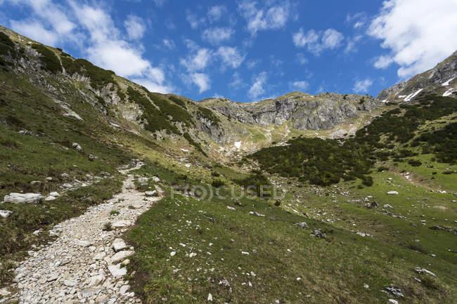 Германия, Бавария, вид на Альпы Альгау высокого — стоковое фото