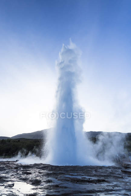 Scenic view of Geyser in Sudurland, Iceland — Stock Photo