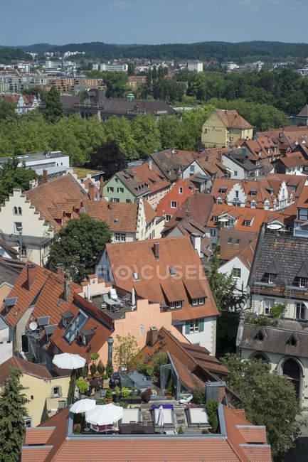 Germania, Baden Wuerttemberg, Costanza, vista sui tetti di città storica centro — Foto stock