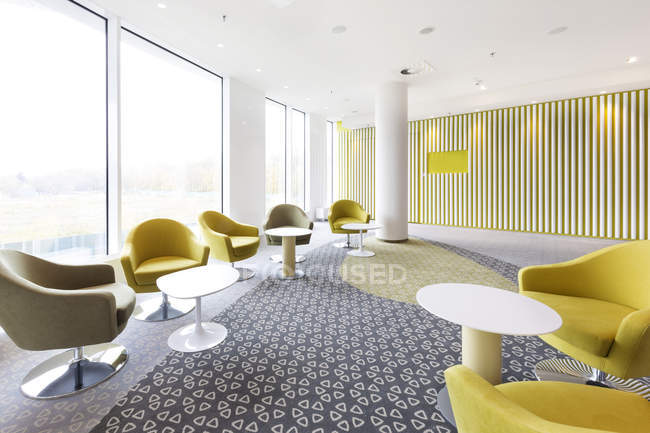 Poland, Warsaw, seating furniture at lounge of hotel — Stock Photo