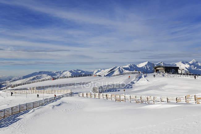 Aineck mountain, Katschberg ski-region, Carinthia and Salzburg State, Austria — Stock Photo