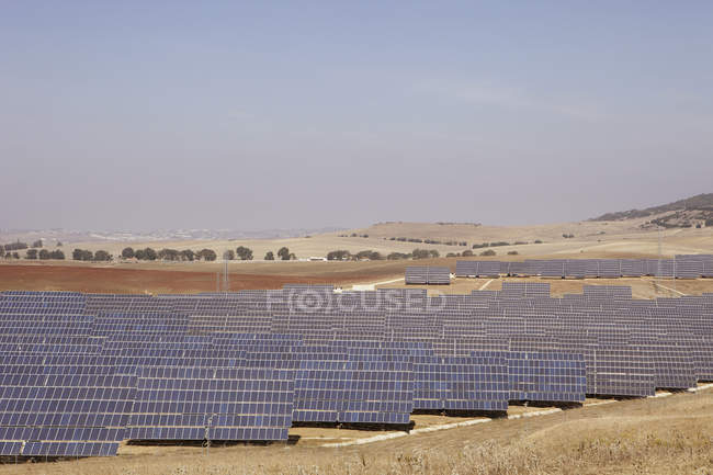 Spain, View of solar park during daytime — Stock Photo