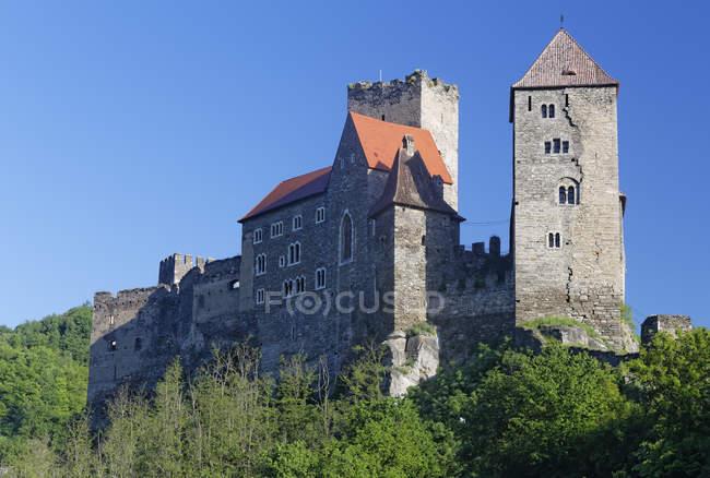 Austria, Upper Austria, Hardegg, Hardegg Castle on hill — Stock Photo
