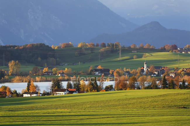 Alemanha, Baviera, Alta Baviera, Pfaffenwinkel, Riegsee — Fotografia de Stock