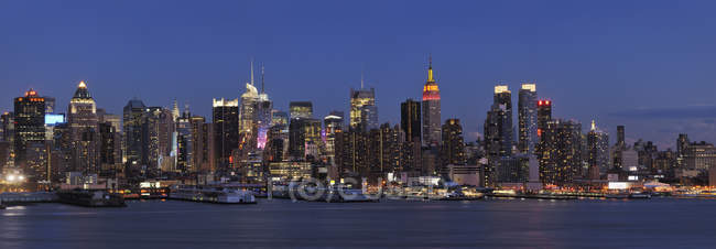 Panoramablick auf Manhattan mit Hudson River, New York City, New York State, Vereinigte Staaten — Stockfoto