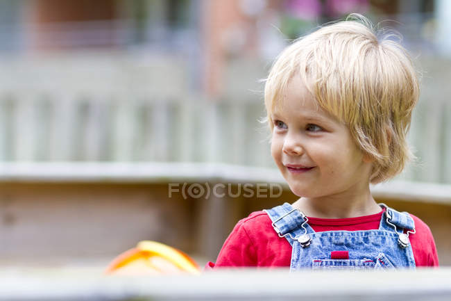 Close-up of little girl looking sideways — Stock Photo