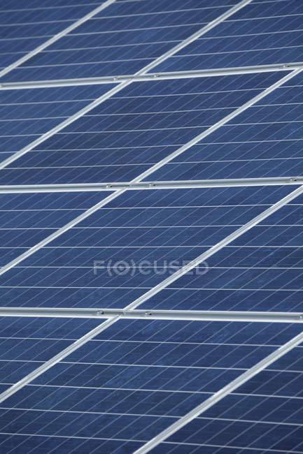 Close-up of modern Solar panels at daylight, Bavaria, Germany — Stock Photo
