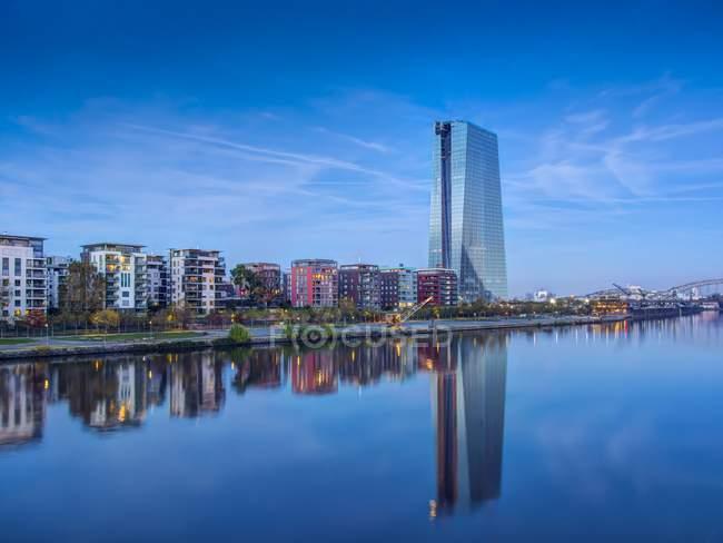 Edifício de Alemanha, Hesse, Frankfurt, novo Banco Central Europeu — Fotografia de Stock