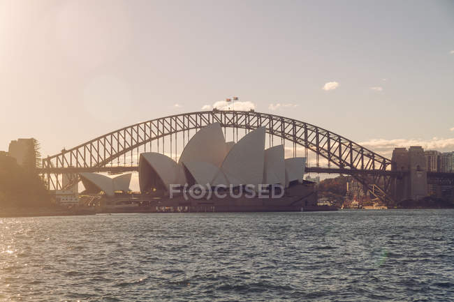 Australia, Sydney, Harbour Bridge and Opera House — Stock Photo