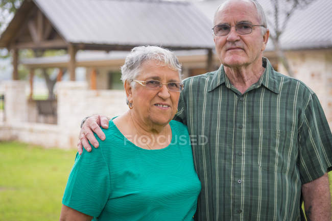 Portrait of senior couple outdors — Stock Photo