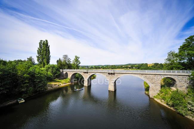 Germania, Sassonia, Dippoldiswalde, Ponte sopra la diga di Malter — Foto stock