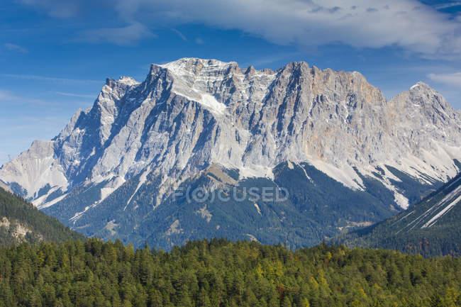 Blick auf felsigen Berg und Bäume zu Fuß während des Tages — Stockfoto
