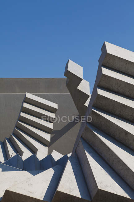 Germany, Baden Wuerttemberg, Concrete of spiral stairs — Stock Photo
