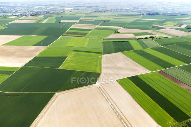 Scenic agricultural fields landscape of Rhineland-Palatinate, Germany — Stock Photo