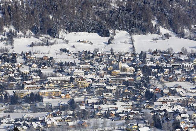 Vista panoramica di Sankt Michael im Lungau città mercato a Salisburgo, Austria — Foto stock