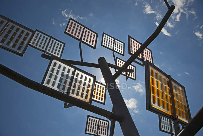 Germany, Ulm, solar tree in the Ulmer residential area solar city — Stock Photo