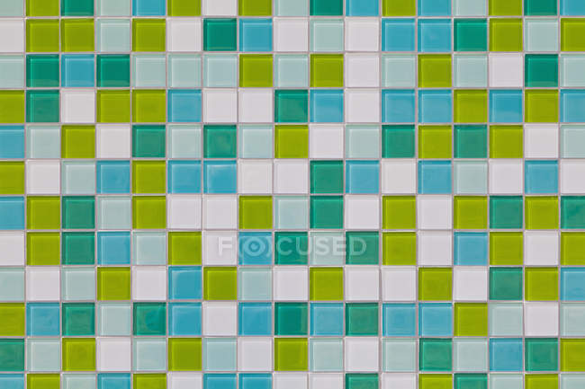 Coloured tiles made of glass, close-up — Stock Photo
