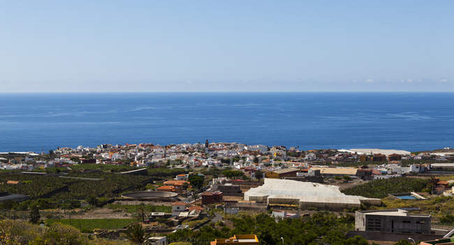 Spain, View of Coastal town of Garachico — Stock Photo