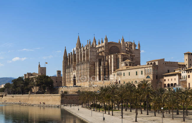 Spanien, Mallorca, Blick auf die Kathedrale von La Seu — Stockfoto