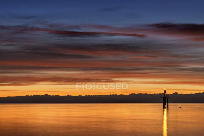 Alemanha, Constança, Vista do farol no Lago Constança — Fotografia de Stock