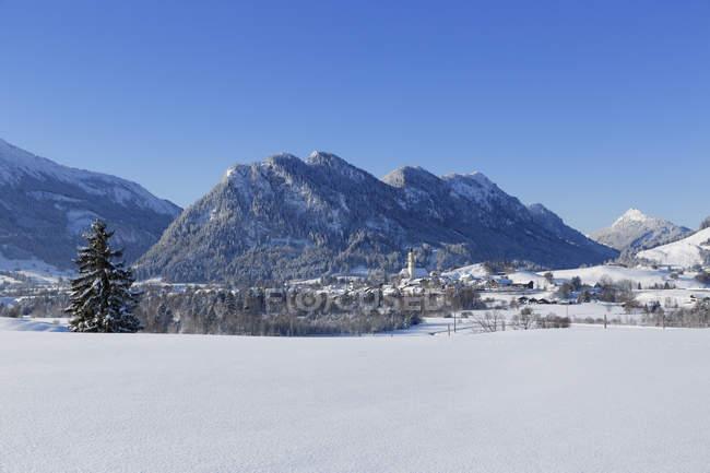 Pfronten village, Ostallgu, Allgu, Swabia, Bavaria, Germany — Stock Photo
