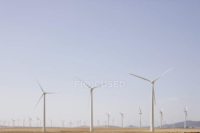 Spain, View of wind turbine on field — Stock Photo