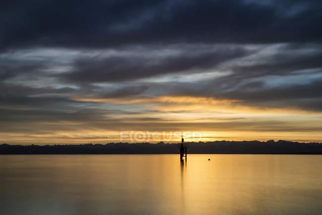 Германия, Констанция, Вид на маяк на озере Констанция — стоковое фото