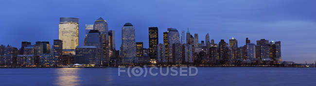 USA, new york state, new york city, view of lower manhattan with hudson river — Stockfoto