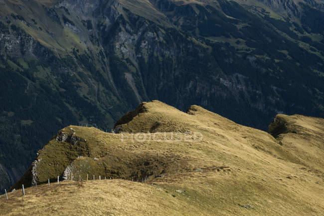 Switzerland, Berner Oberland, Maennlichen, mountain massif in autumn — Stockfoto