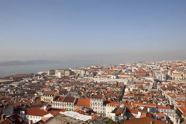 Portugal, cidade de paisagem urbana de Lisboa de cima — Fotografia de Stock