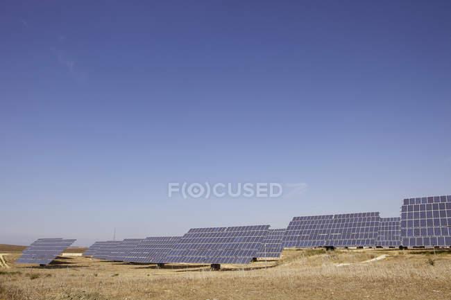 Spain, View of solar park in deserted landscape — Stock Photo