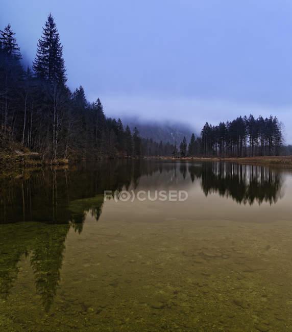 Gruenau, Alm valle e Lago Almsee, Salzkammergut, Upper Austria, Austria — Foto stock