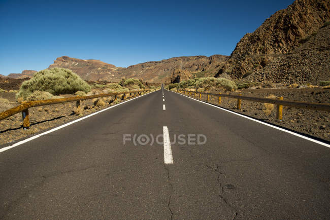 Spain, Canary Islands, Tenerife, Teide National Park, road during daytime — Stock Photo
