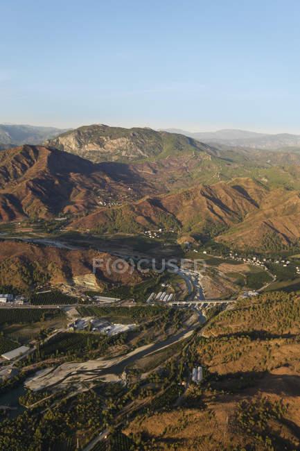 Туреччина, Мугла, Даламан потоку поблизу Dalaman і Таврські гори — стокове фото