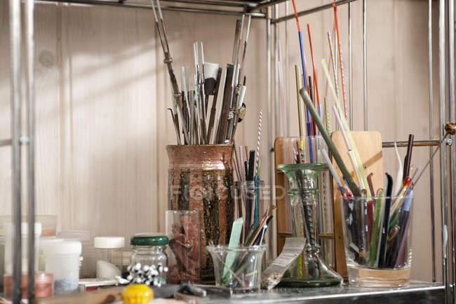 Германия, Бавария, Инструменты для изготовления стеклянной бусины — стоковое фото