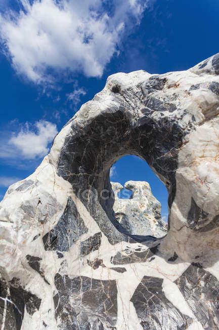 Німеччина, Баден-Вюртемберг, Remseck, переглянути базальтові камені і арочні формування — стокове фото