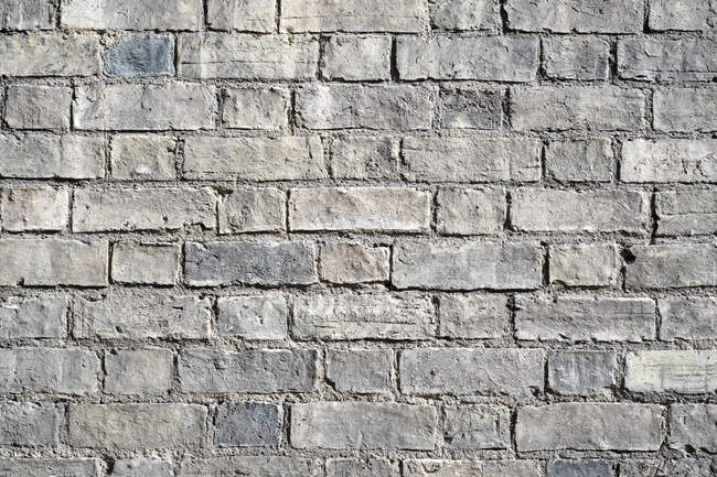 Pattern of old brick wall, full frame — Stock Photo