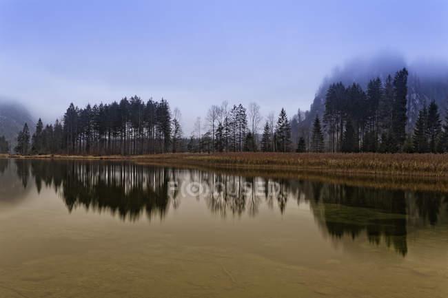 Austria, Salzkammergut, Austria superiore, Gruenau, Valle di Alm, Lago Almsee — Foto stock