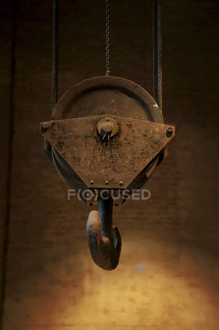 Close-up of hook at electric power station — Stock Photo
