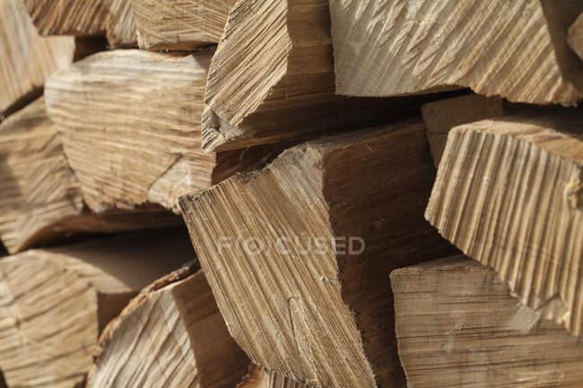 Allemagne, Laupheim, pile de bois, gros plan — Photo de stock