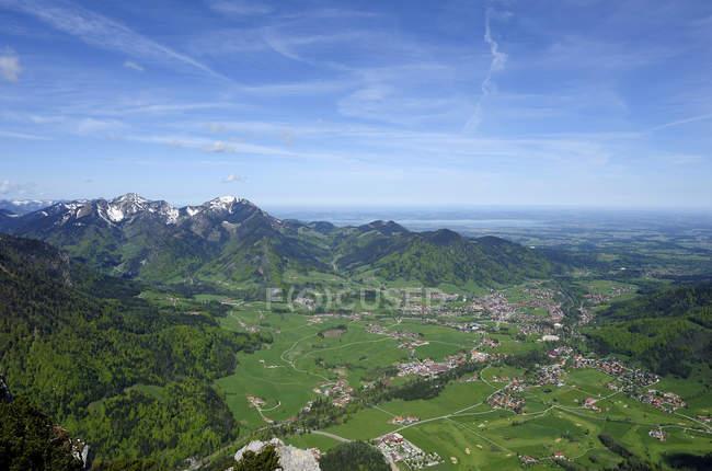 Germany, Bavaria, Ruhpolding, View of Chiemgau region  during daytime — Stock Photo